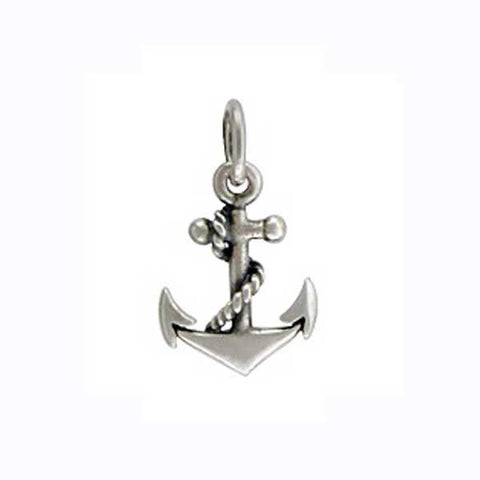 sterling silver anchor charm, nautical charm, design your own, personalized necklace, jenny present®