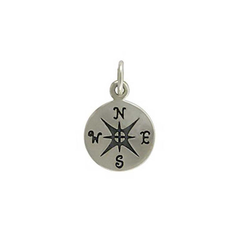 sterling silver compass charm, travelers jewelry, compass pendant, coordinates jewelry, design your own personalized necklace, jenny present®