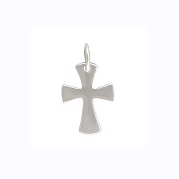 silver cross charm, celtic cross pendant, design your own necklace, personalized jewelry, jenny present®