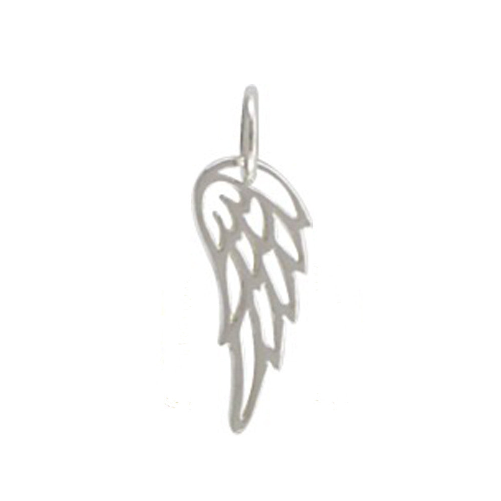 sterling silver angel wing, remembrance charm, angel wing pendant necklace, design your own personalized jewelry, jenny present®