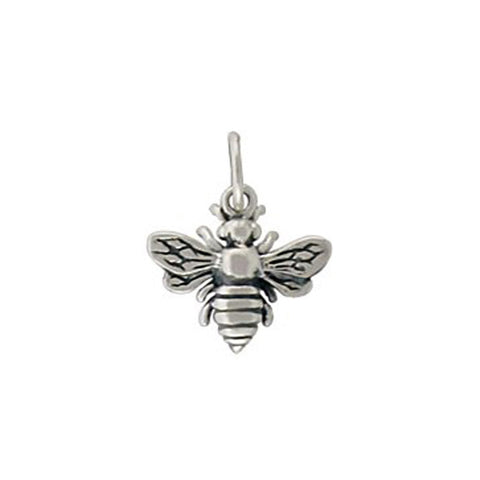 sterling silver bumble bee charm, bee pendant, design your own charm necklace, personalized jewelry, jenny present®