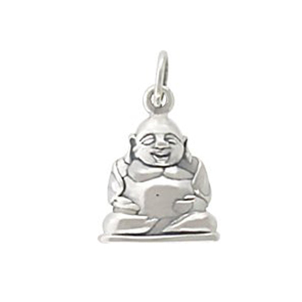 sterling silver buddha charm, meditation pendant, peace, design your own personalized jewelry necklace, jenny present®