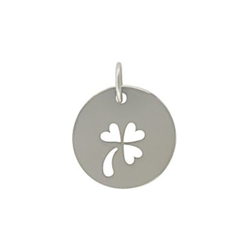 silver clover charm, good luck pendant, good luck jewelry, personalized design your own necklaces, jenny present®