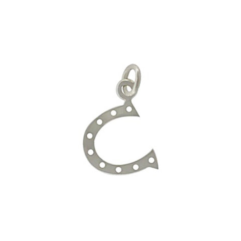 silver horse shoe charm, lucky charm jewelry, good luck pendant, design your own charm necklace, personalized, jenny present®