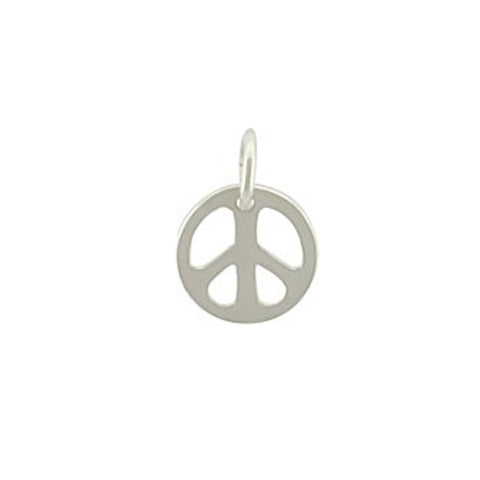 peace charm, peace sign, peace pendant, design your own personalized charm necklace, jenny present®
