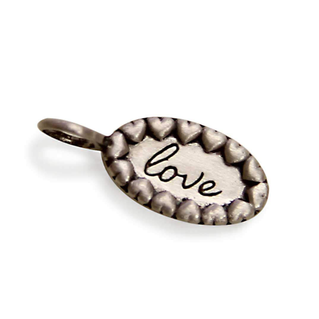 Silver Love Charm, Tiny LifeNotes® Inspirational Jewelry