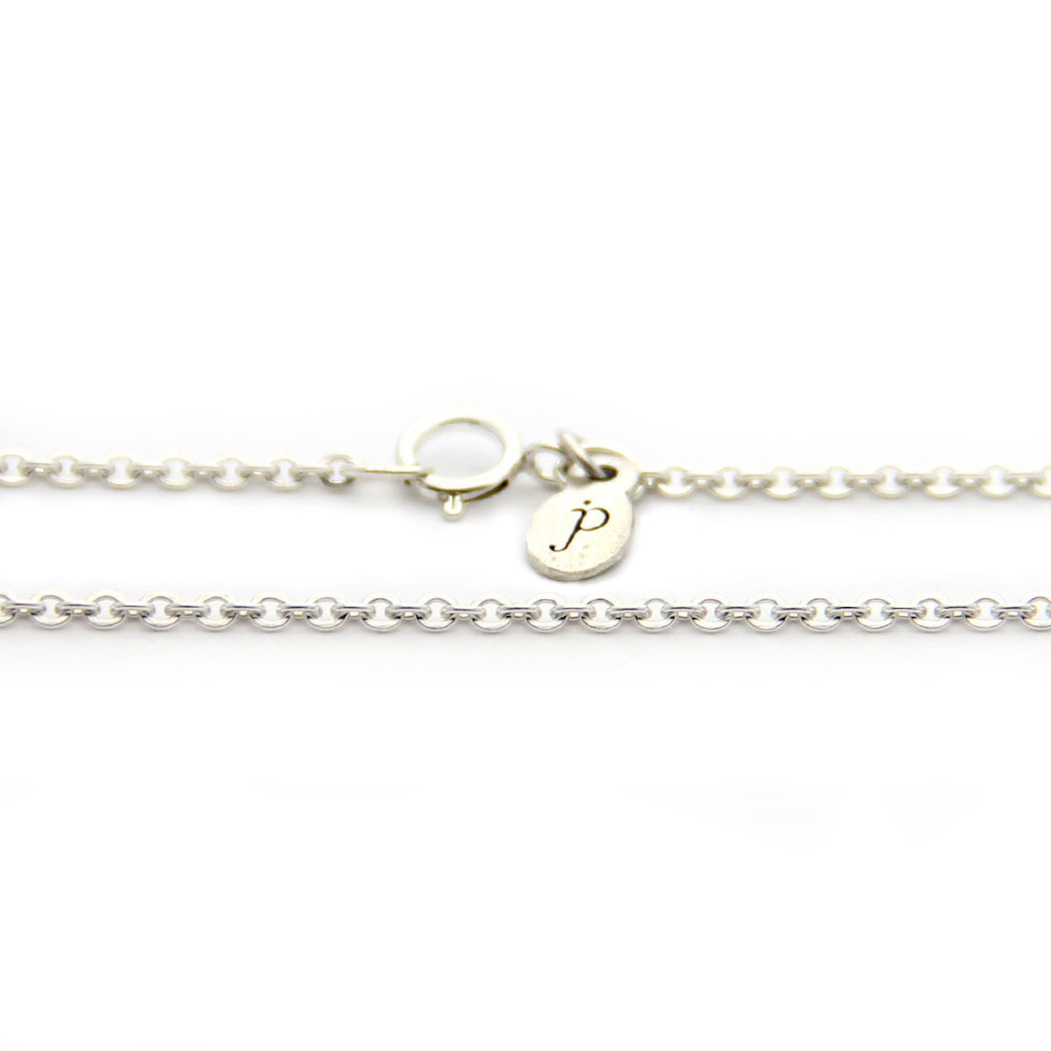 sterling silver cable chain necklace length option, silver chain add on, design your own necklace, jenny present®