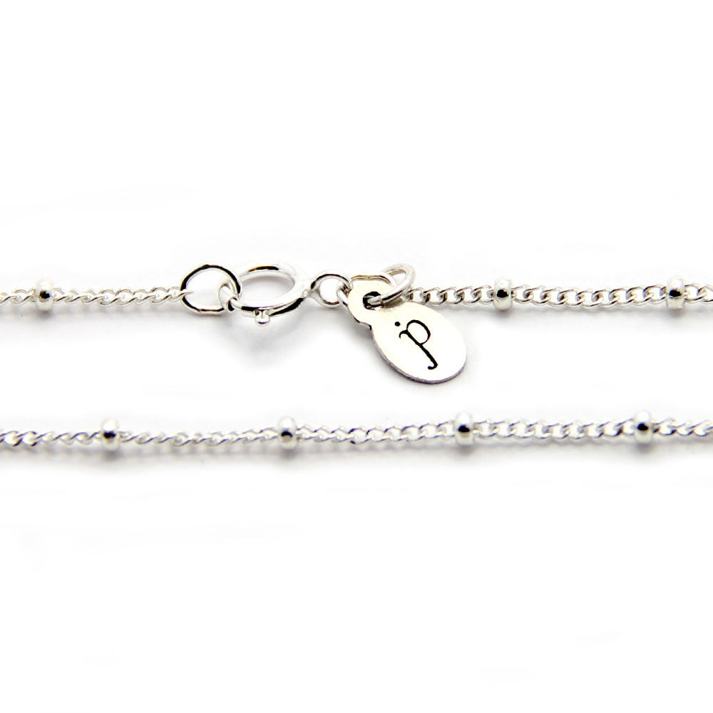 silver saturn chain necklace, silver chain add on, jenny present®