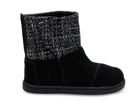 Toms Suede with Metallic Wool Tiny Toms Nepal Boot