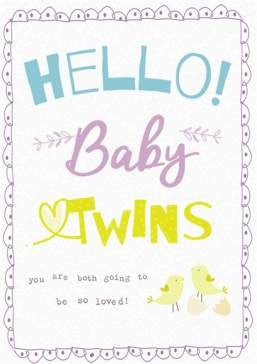 Hammond Gower Baby Twins Greeting Card