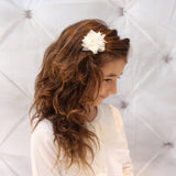 Babies and Bows Tulle Flower Hair Clip - Molly