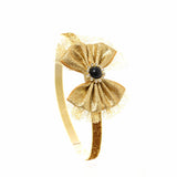 Babies and Bows Gold Headband - Bianca