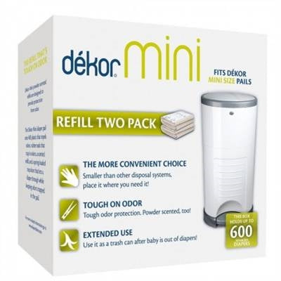 Dekor Diaper Pail Mini 2 Pack Refill