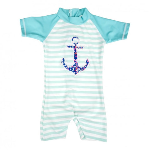 Baby Banz Girls Anchor 1pc Swimsuit