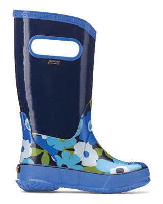 Bogs Kids Rain Boot Blue Flower - 71927 492