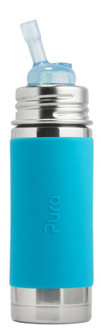 Pura Kiki Stainless Steel Straw Bottle 325ml/11oz