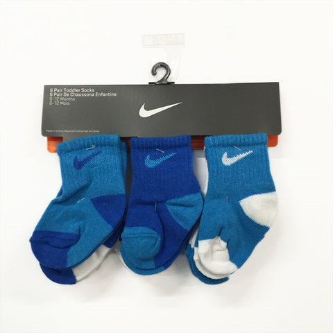 Nike Infant Socks 6pk - Blue