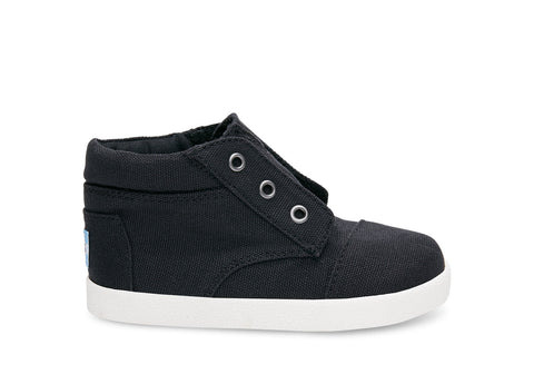 Toms Black Canvas Paseo High Sneakers