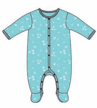 Petit Lem Little Stars Knit Sleeper - Boys