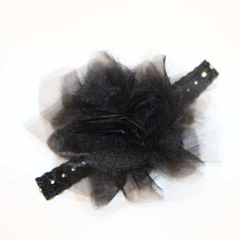 Babies and Bows Big Tulle Ruffle Headband - Joyce