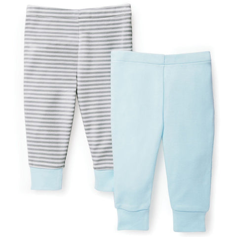 Skiphop Layette Boho Feathers Baby Pants Set 2pc - Blue