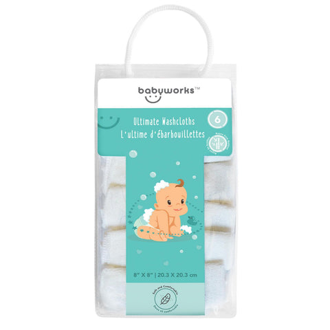 Baby Works Ultimate washcloths 6pk
