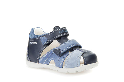 GeoxKAYTAN BOY - Baby shoes - brandy/dark navy 1i7EaPN