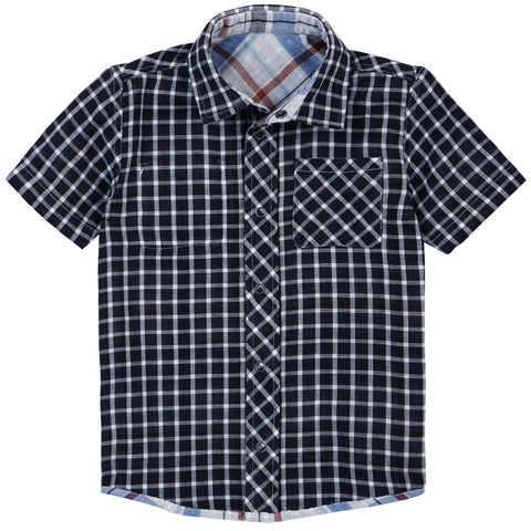 Petit Lem Boys Reversible Woven Shirt - Sea Ya Later