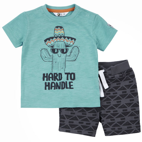 Petit Lem Boys T-Shirt & Shorts Set - Wild One