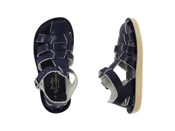 Salt Water Sandals - Toddler Shark Navy Blue