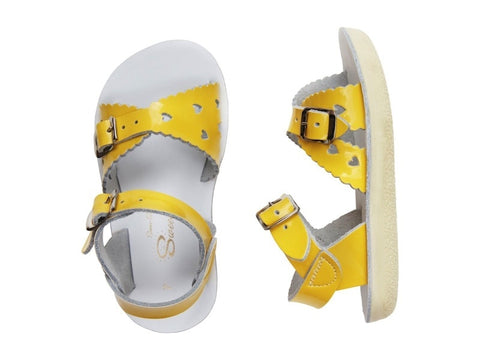 Salt Water Sandals - Toddler Sweetheart Shiny Yellow