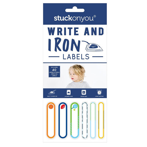 Stuck on You Write and Iron Labels