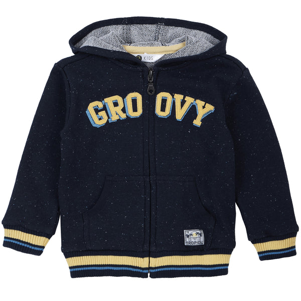 Petit Lem Boys Hooded Sweatshirt Knit - Groovy