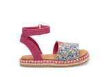 Toms Fuchsia Multi Floral Tiny Toms Malea Sandals