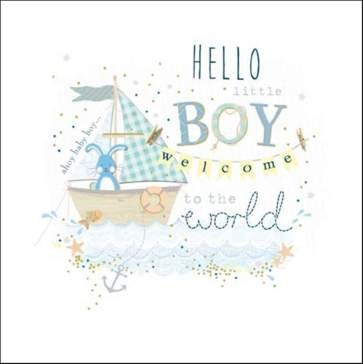 Woodmansterne Baby Boy Card