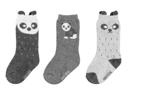 Mayoral 3 Bear Socks Set - 10.215, Gray
