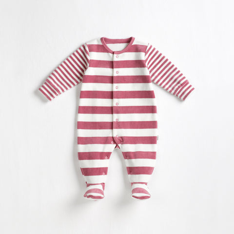 Petit Lem Moon Girl Baby Sleeper - Dusty Pink