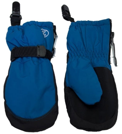 Calikids Waterproof Mitten with Clip - Blue Saphire