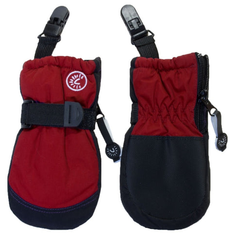 Calikids Waterproof Mitten with Clip - Scooter Red