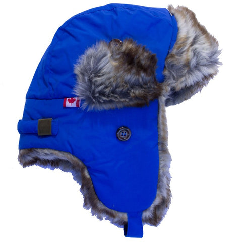 Calikids Waterproof Nylon Aviator Hat - Blue Saphire