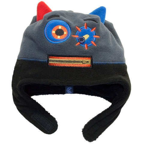 Calikids Boys Monster Hat - Black/Graphite