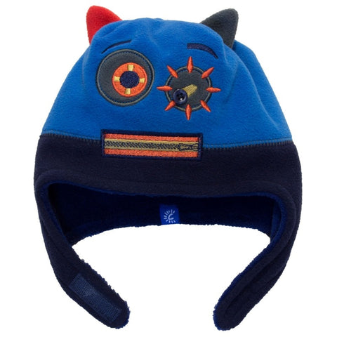 Calikids Boys Monster Hat - Navy/Skydiver