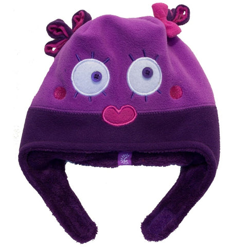 Calikids Girls Monster Hat - Super Iris/Plum