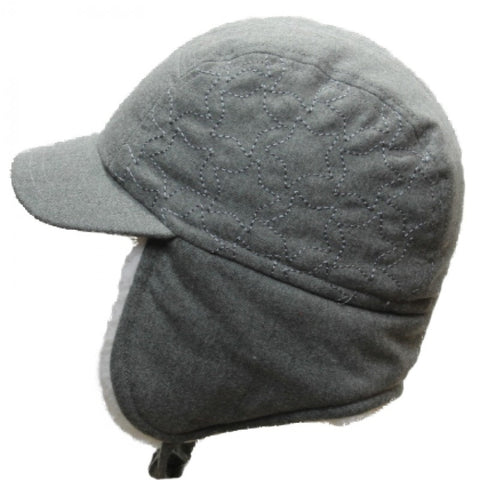 Calikids Boys Wool Ball Hat - Grey