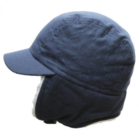 Calikids Boys Wool Ball Hat - Navy