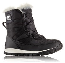 Sorel Childrens Boot - Whitney Short Lace - Black/Sea Salt