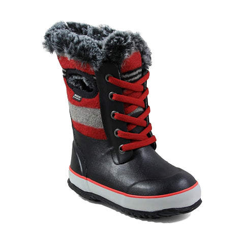 Bogs Kid's Insulated Boots Arcata Stripe - Cherry