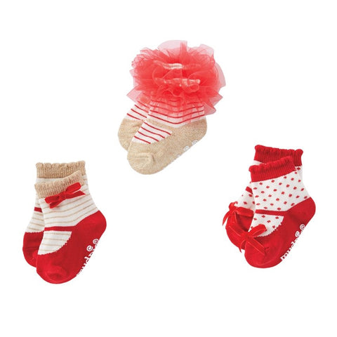 Mud Pie Holiday Mary Jane Sock Set