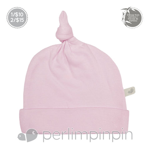 Perlimpinpin Bamboo Knotted Hat - Light Pink