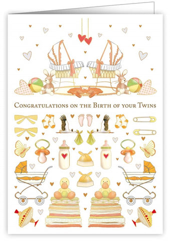 Quire Publishing Twin Congratulations Card